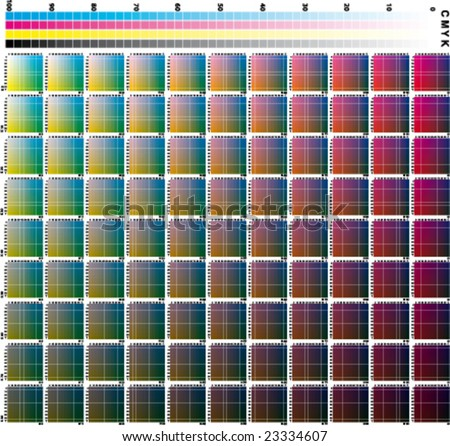 Cmyk Chart  Download Free Vector Art Stock Graphics  Images