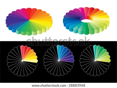 Color guide set. editable - stock vector