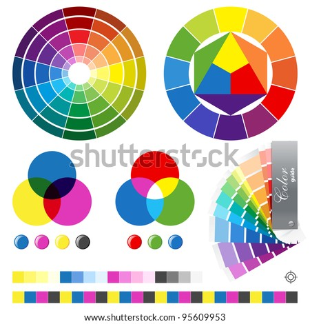 Color guides vector illustration - stock vector