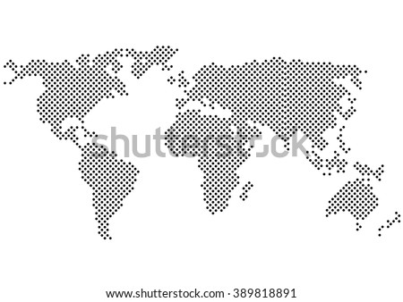 Free world map patterns vector download free vector art stock color halftone world maplor halftonector color halftone map silhouette and gumiabroncs Images