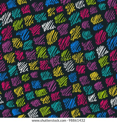 Color hand drawn pattern. Vector background