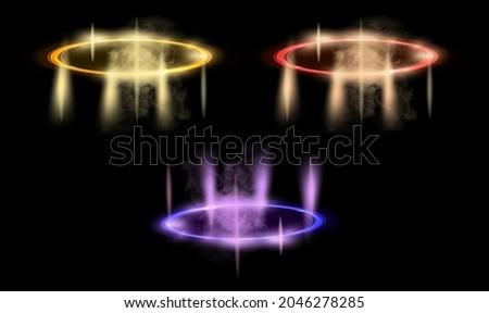 color hologram portals