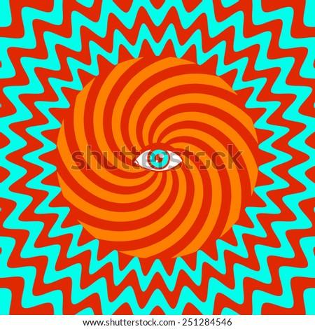 color hypnotic retro poster