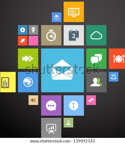 color icon interface template