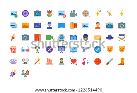 color icon set contains 52