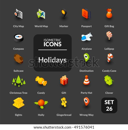 color icons set in flat