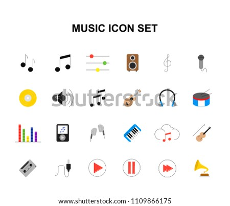 Vector Colorful Music Violin Key Icons Download Free Vector Art