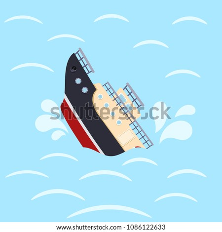 color image for design ship in