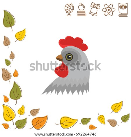 color image head of chicken