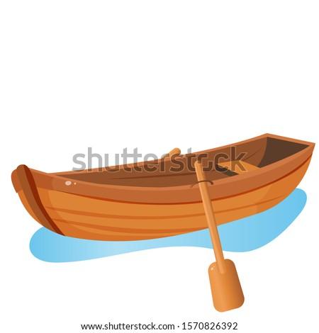 color image of cartoon boat