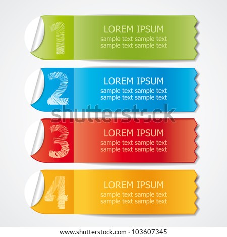 color labels for various options