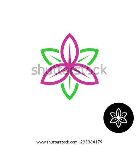 color leaves flower shape