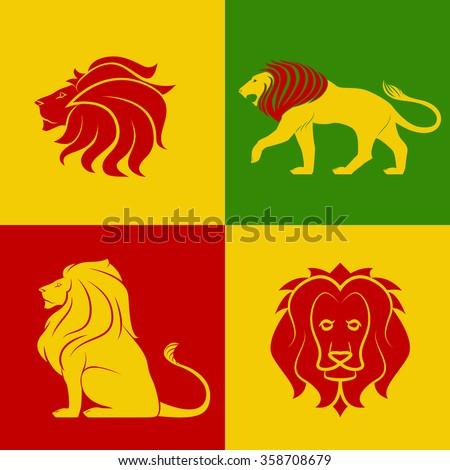 color leo logo set