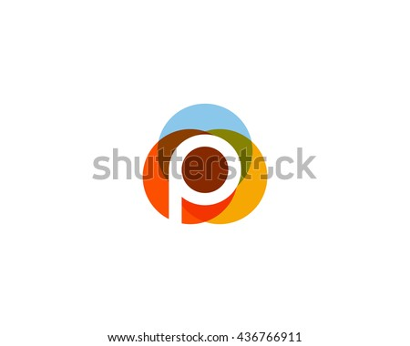 Colorful Abstract Logo With Letter P Download Gratis Vectorkunst