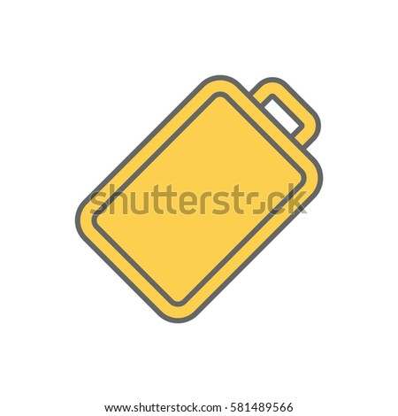 Color line Cutting board isolated icon on white background. Vector illustration. #581489566