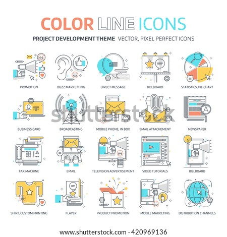 color line  marketing concept