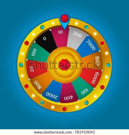 Colorful fortune wheel design  3d… Stock Photo 468504710