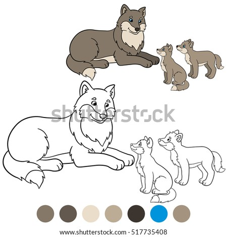 color me  wolf mother wolf