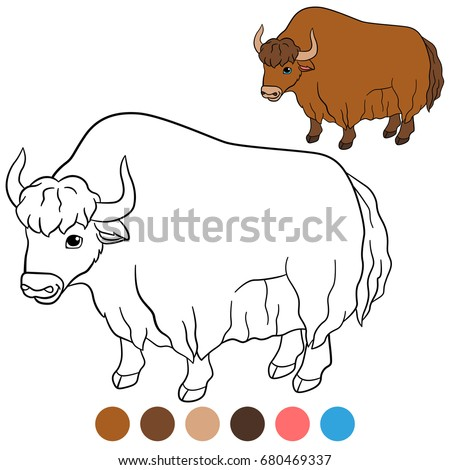 Cute white yak cartoon - Download Free Vectors, Clipart Graphics & Vector  Art