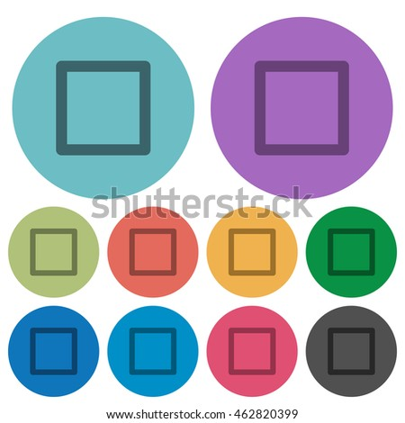 color media stop flat icon set