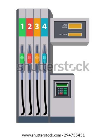 color modern fuel pump gas service