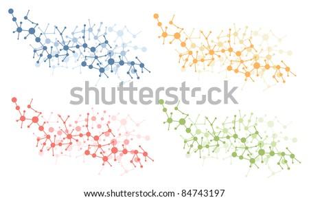 color molecule connection vector