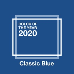 Color of the Year 2020 Classic Blue. Background fashionable palette.