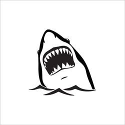 color page shark line art