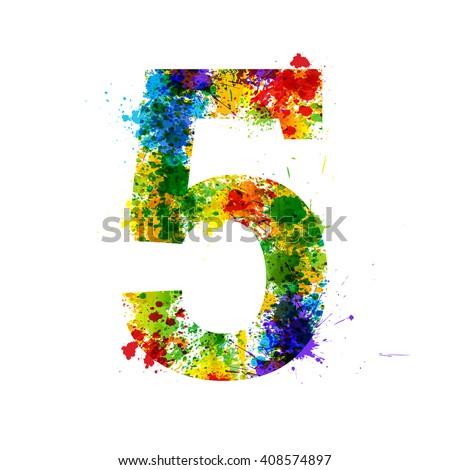 color paint splashes gradient