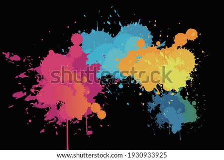 color paints rainbow color touch Foto stock ©