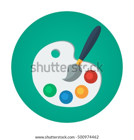 color palette flat vector icon