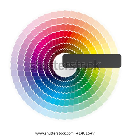 Color palette guide, catalogue. Vector.