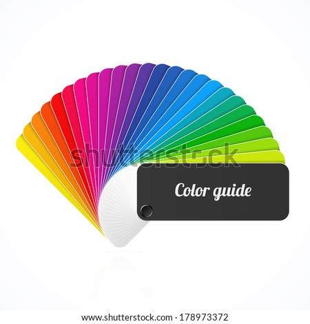 Color palette guide, fan, catalogue. Vector.