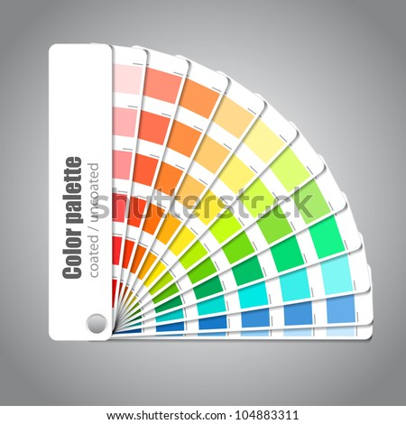 Color palette guide on grey background