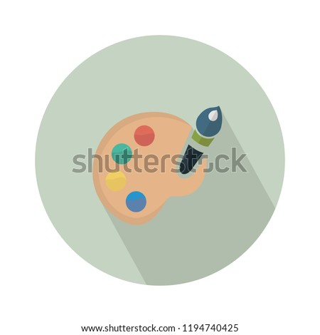 color palette icon. vector paint palette illustration - art icon, creative design tool