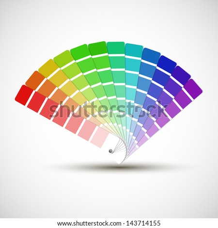 color palette isolated on white