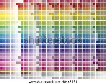 Color palette tiled background. Vector Image. 1200 different colors.