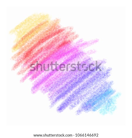 Color pencil stroke. Kids hand drawn element. Grunge element for paper design. Banner for text