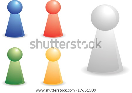 color person plastic pieces for abstract concept
