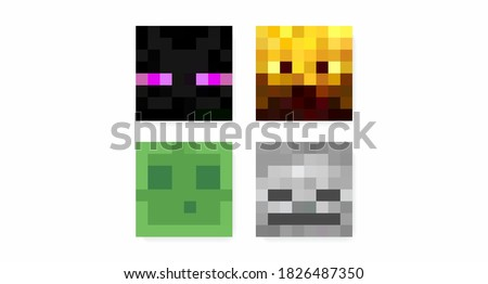 color pixel characters in the