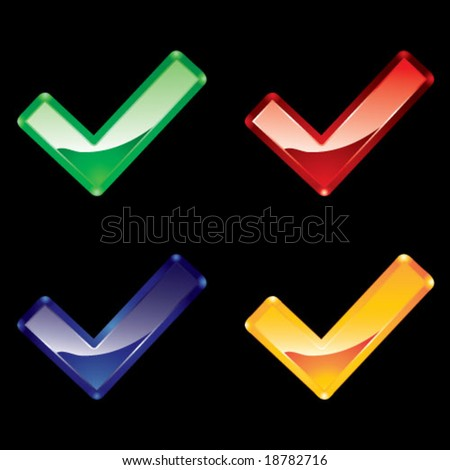 Color plastic tick