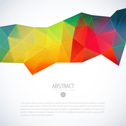 color polygon multicolored designing multi multi coloured vector conceptual polygonal background color polygon multicolored designing multi line star texture abstraction background scene technique edg