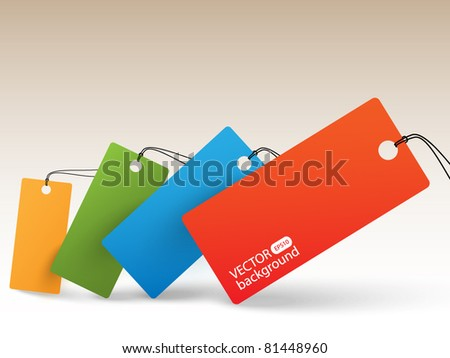 Color price tags - background