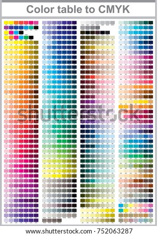 Color print test page. Illustration CMYK colors for print. Vector color palette