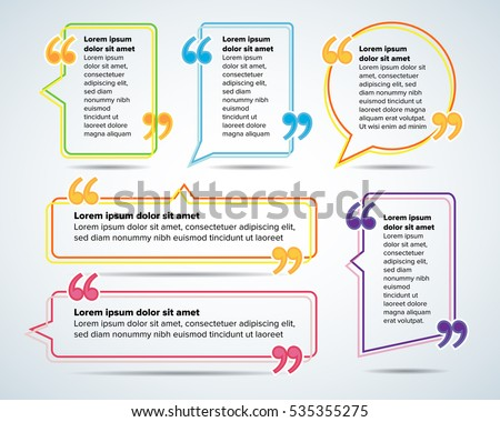 color quote blank templates