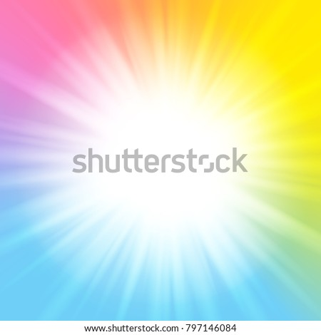 Color rainbow sunny background for Your design