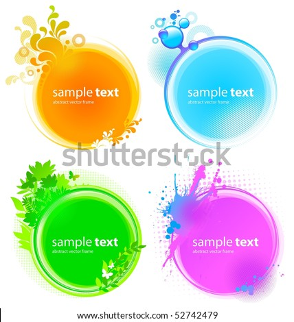 Color round vector frames