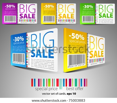 Color sale cards