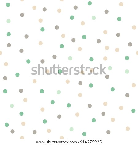 Color seamless  polka dots pattern