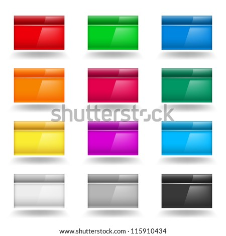 Color set of Computer Windows. Illustration on white